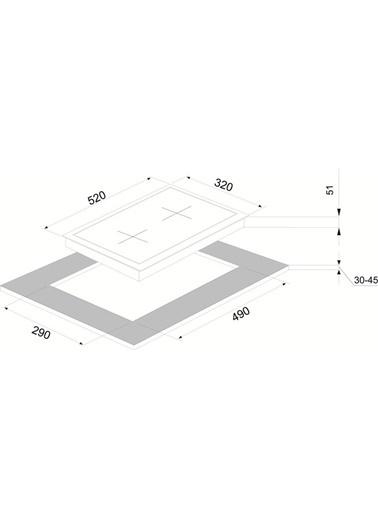 VİNOLA Vinola MOG.3010.111.01 Siyah Cam Domino Ocak Renkli